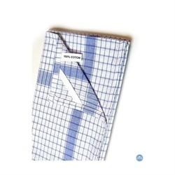 Serviette gaufrée Blanche 100% coton Encadrée Couleur 180gr/m²
