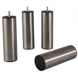 Pied cylindrique INOX BROSSE