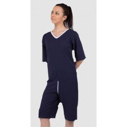 Combijama LAGOS manches & jambes courtes maille poly/coton 50/50