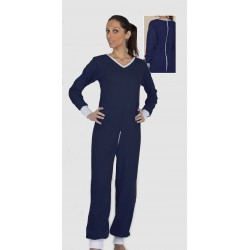 Combijama POROS manches & jambes longues maille poly/coton 50/50