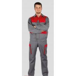 Pantalon d'atelier bi-colore BRISTOL 5 poches fermeture pressions