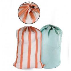 Sac à linge fond plat 100% polyester 170 gr/m² avec poignée de fond