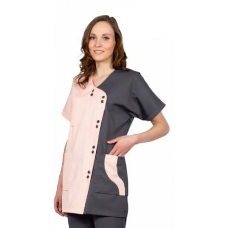 Veste manche courte femme coton
