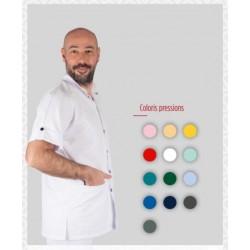 Tunique mixte ANGHKOR col officier avec 3 poches fermeture pressions