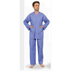 Pyjama homme CERVIN col V et ceinture élastiquée
