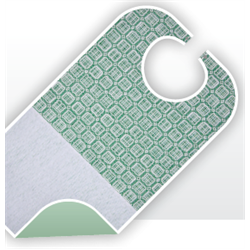 Bavoir polycoton 65/35 avec barrière vinyle + bas éponge et pressions