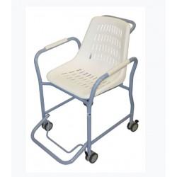 Chaise de douche HYSEA 600 à roulettes avec accoudoirs et marche pied