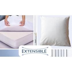 Protège oreiller 100% Tencel + polyuréthane avec zip (lot de 11)