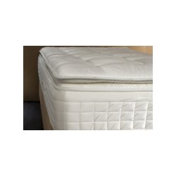 Surmatelas GRAND PALACE forme demi-housse 100% coton percale